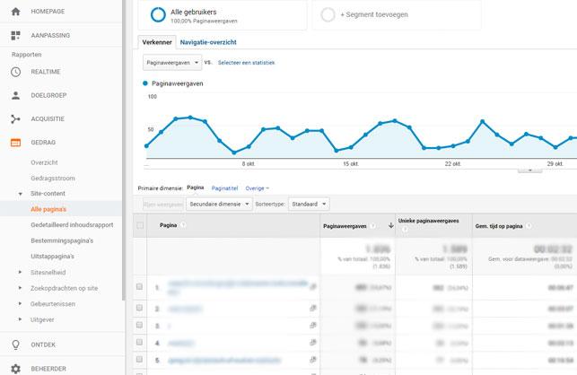 Google Analytics gedrag