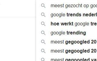 Meest gezocht in Google