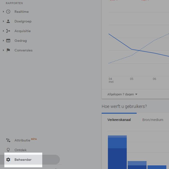 Google Analytics Beheerder