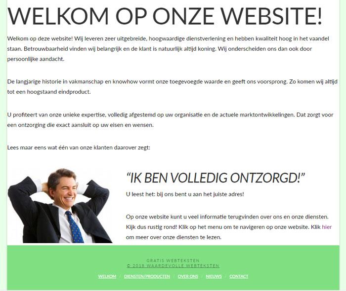 Gratis webteksten