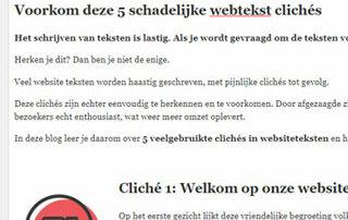 Webtekst clichés